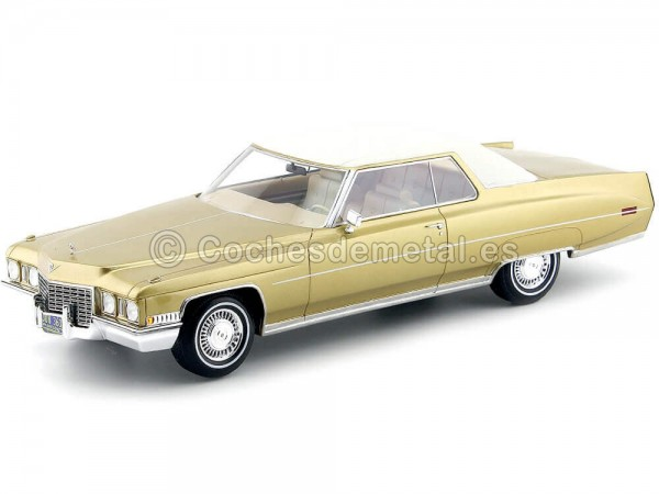 1972 Cadillac Coupe DeVille Gold Metallic 1:18 BoS-Models 363 Cochesdemetal.es