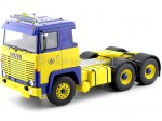 1976 Camion Scania LBT 141 Tres Ejes Truck ASG Amarillo-Azul 1:18 Road Kings 180011