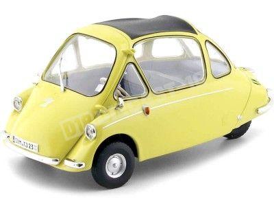 1956 Heinkel Kabine Yellow 1:18 Oxford 18HE003 Cochesdemetal.es