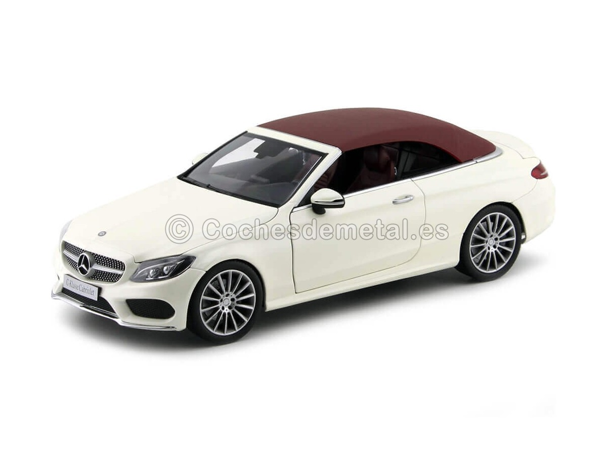2016 Mercedes-Benz Clase C Cabriolet (A205) Diamond White 1:18 Dealer Edition B66960613 Cochesdemetal.es