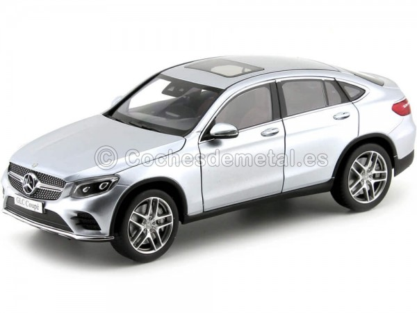 2016 Mercedes-Benz GLC Coupe (C253) Diamond Silver 1:18 Dealer Edition B66960804 Cochesdemetal.es