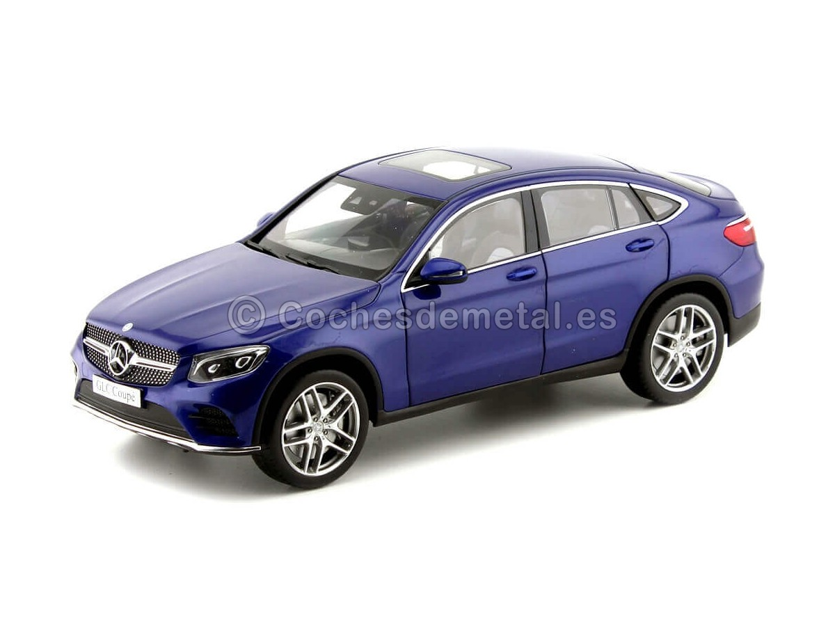 2016 Mercedes-Benz GLC Coupe (C253) Brillant Blue 1:18 Dealer Edition B66960805 Cochesdemetal.es