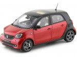 2015 Smart Forfour Coupe (W453) Black/Red 1:18 Norev B66960300