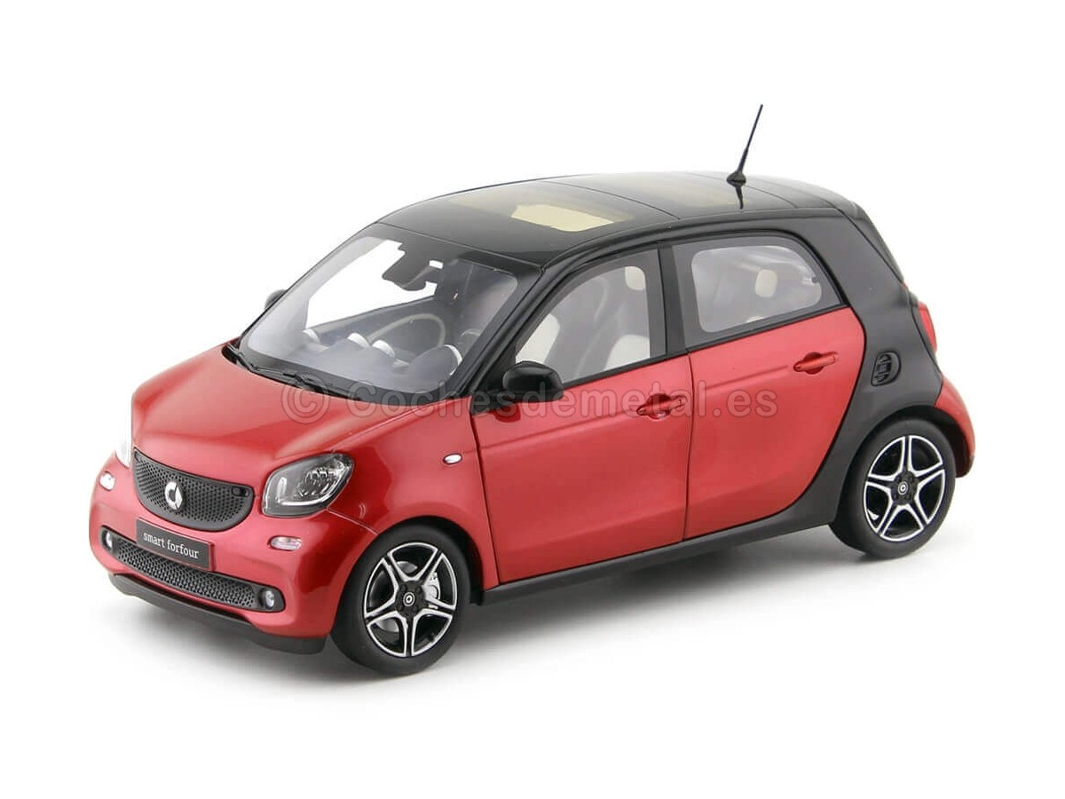 2015 Smart Forfour Coupe (W453) Black/Red 1:18 Norev B66960300 Cochesdemetal.es