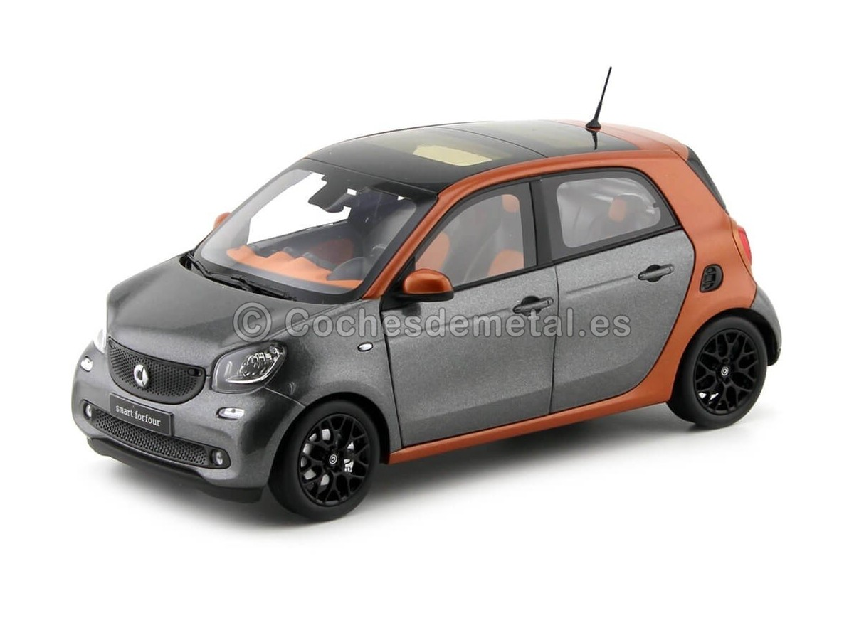 2015 Smart Forfour Coupe (W453) Orange/Grey 1:18 Dealer Edition B66960298 Cochesdemetal.es