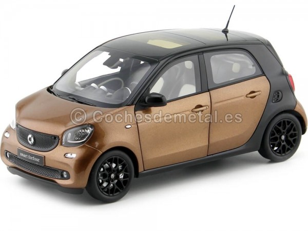2015 Smart Forfour Coupe (W453) Black/Brown 1:18 Dealer Edition B66960299 Cochesdemetal.es