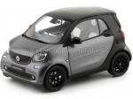 2015 Smart Fortwo Coupe (C453) Black/Grey 1:18 Dealer Edition B66960281