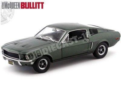 """1968 Ford Mustang GT Fastback """"BULLITT"""" 1:18 Greenlight 12822 Cochesdemetal.es"""