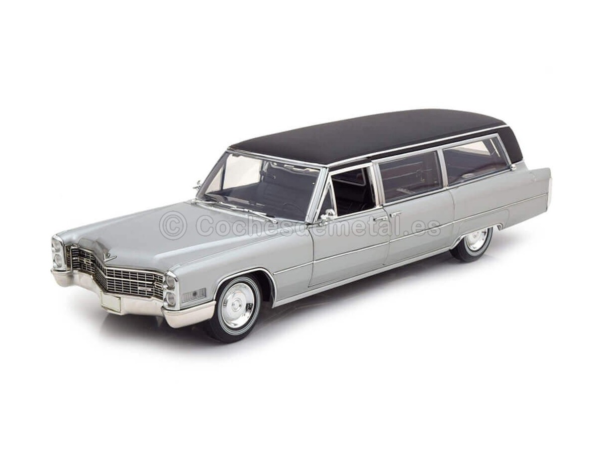 1966 Cadillac S-S Limo Funebre Silver 1:18 GreenLight Precision Collection 18005 Cochesdemetal.es