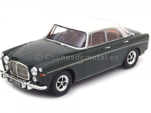 1971 Rover P5B Coupe Green-Silver 1:18 Bos-Models 146 Cochesdemetal.es