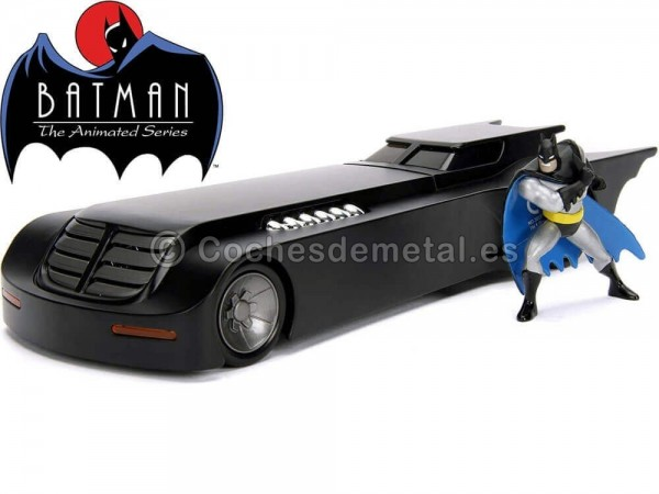 1992 The Animated Series Batmobile con Figura de Batman 1:24 Jada Toys 30916