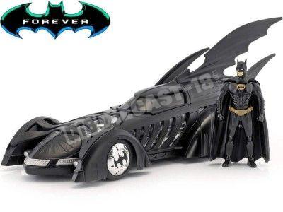 1995 Batmobile Batman Forever con Figura de Batman 1:24 Jada Toys 98036 Cochesdemetal.es