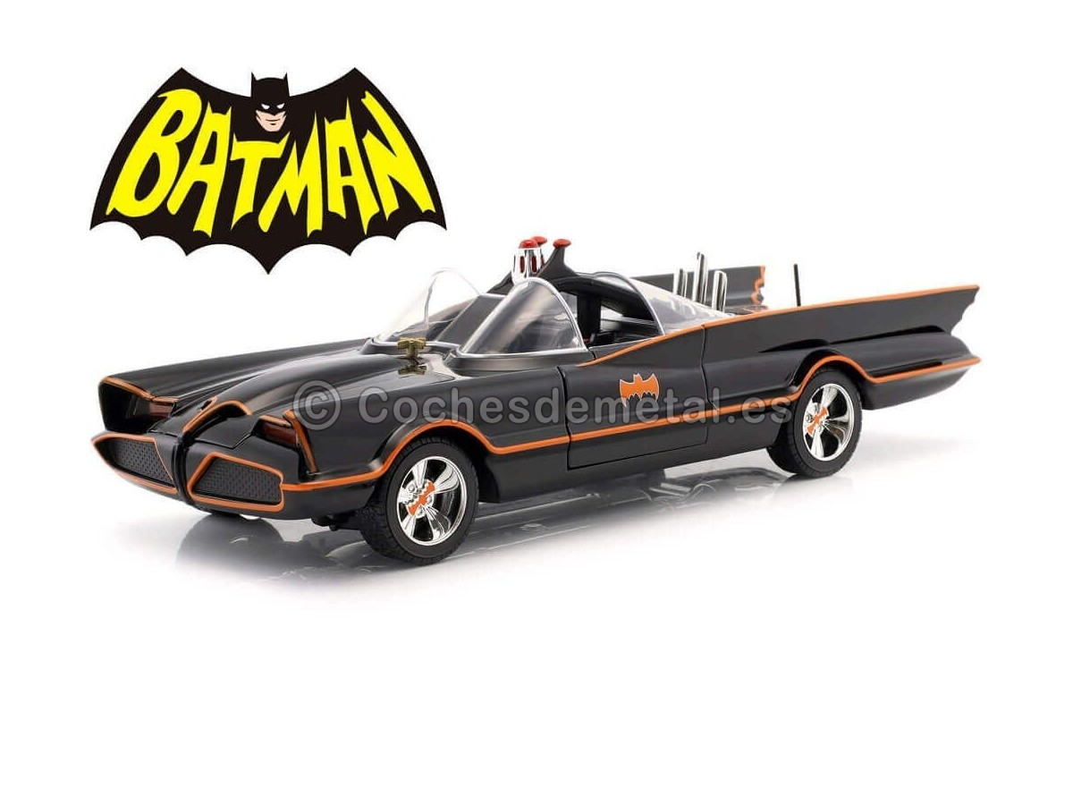 1966 TV Series Batmobile con luces, Batman y Robin 1:18 Jada Toys 98625 Cochesdemetal.es