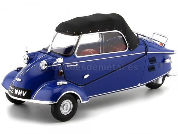 1955 Messerschmitt KR200 Bubble Top Azul-Negro 1:18 Oxford 18MBC006 Cochesdemetal.es