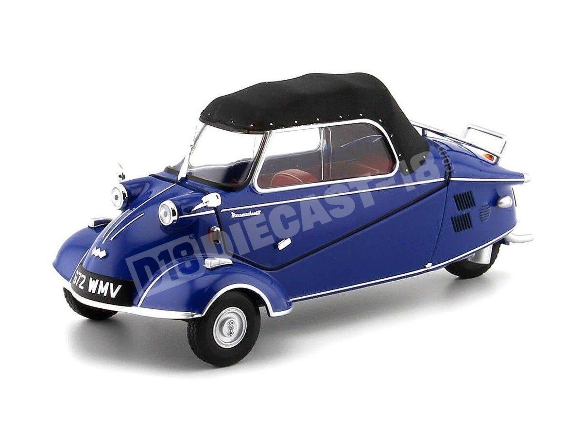 1955 Messerschmitt KR200 Bubble Top Azul-Negro 1:18 Oxford 18MBC006 Cochesdemetal.es