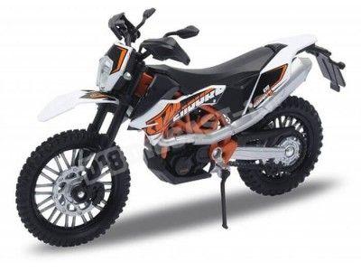2014 KTM 690 Enduro R White-Black 1:18 Welly 12820 Cochesdemetal.es