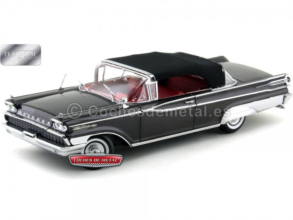 1959 Mercury Park Lane Closed Convertible Black-Charcoal 1:18 Sun Star 5166 Cochesdemetal.es