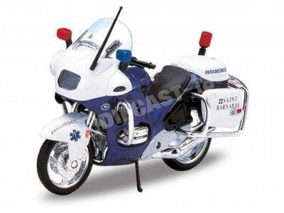 1996 BMW R1100 RT Paramedics Blue-White 1:18 Welly 12151 Cochesdemetal.es