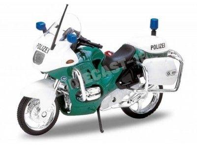 1996 BMW R1100 RT Polizei Green-White 1:18 Welly 12151 Cochesdemetal.es