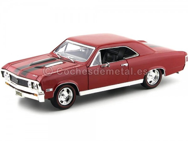 1967 Chevrolet Chevelle SS 396 Red-Black 1:18 Motor Max 73104 Cochesdemetal.es