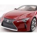 """2018 Lexus LC500 """"S Package"""" Rojo Sonic 1:18 Kyosho Samurai KSR18024R Cochesdemetal.es"""