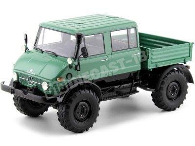 1982 Mercedes Unimog 416 DoKa Dark Green 1:18 Premium ClassiXXs PCL30090 Cochesdemetal.es