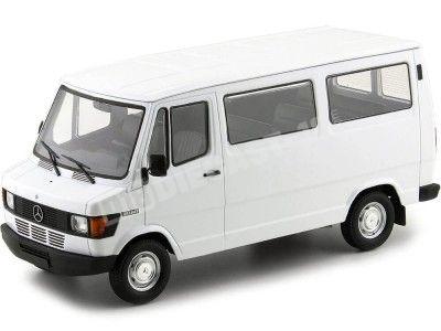 1988 Mercedes-Benz 208 D Microbus Blanco 1:18 KK-Scale 180291 Cochesdemetal.es