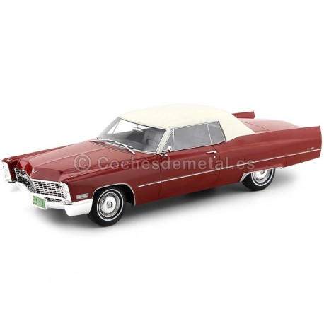 1967 Cadillac Coupe DeVille Red-White 1:18 BoS-Models 240