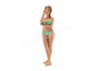 "Figura de Resina ""Bikini Girl August"" 1:18 American Diorama 38172 Cochesdemetal.es"