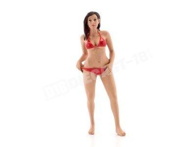 "Figura de Resina ""Bikini Girl October"" 1:18 American Diorama 38174 Cochesdemetal.es"