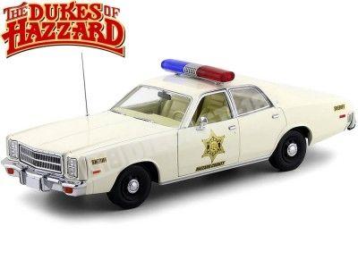"1977 Plymouth Fury Police ""Sheriff Hazzard"" 1:18 Greenlight 19055"