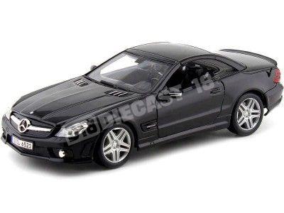 2009 Mercedes-Benz SL 65 AMG V12 Biturbo Negro 1:18 Maisto 36193 Cochesdemetal.es