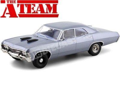 1967 Chevrolet Impala Sedan A-Team Equipo-A Blue-Grey 1:18 Greenlight 19047 Cochesdemetal.es