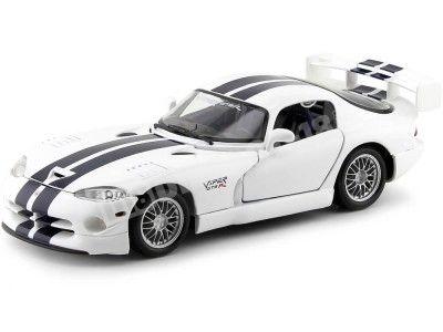 1999 Dodge Viper GT2 Blanco-Azul 1:18 Maisto 31845 Cochesdemetal.es