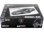 2008 Lamborghini Reventon Gris Model Kit 1:24 Mondo Motors 60015