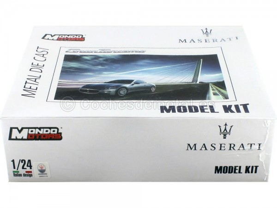 "2007 Maserati Gran Turismo Gris ""Model Kit"" 1:24 Mondo Motors 60016"