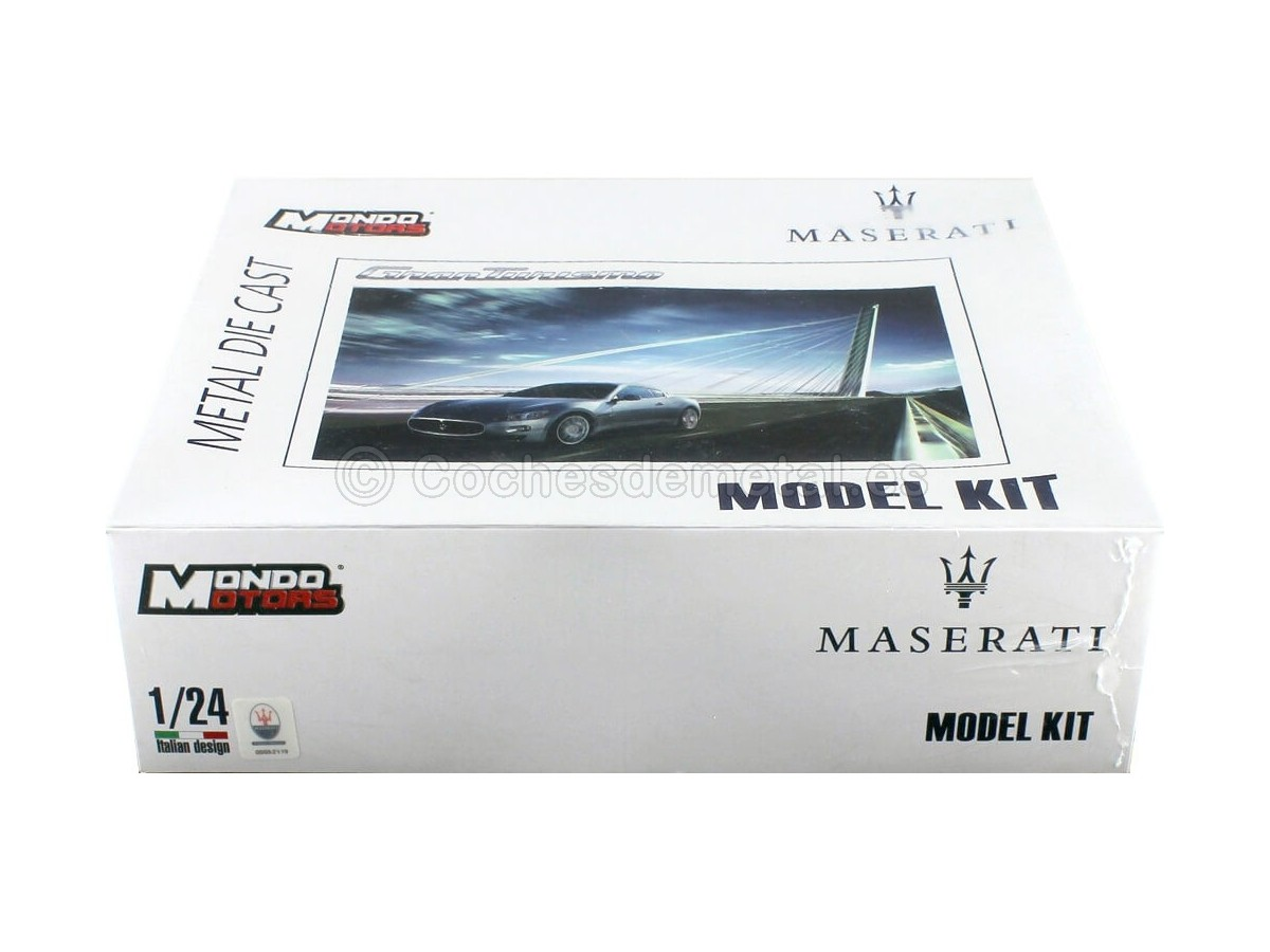 "2007 Maserati Gran Turismo Gris ""Model Kit"" 1:24 Mondo Motors 60016 Cochesdemetal.es"