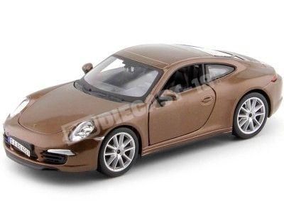 1999 Porsche 911 Carrera S Marrón Metalizado 1:24 Bburago 21065