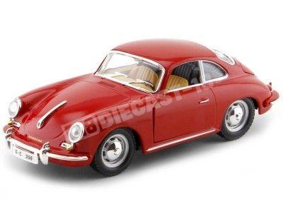 1961 Porsche 356B Coupe Rojo 1:24 Bburago 22079