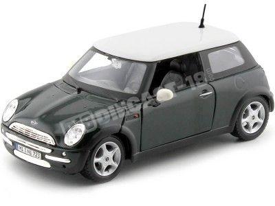 2004 Mini Cooper R50 Verde-Blanco 1:24 Maisto 31219