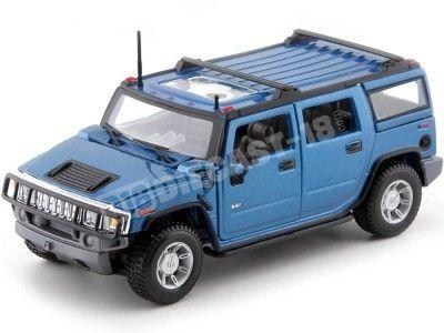 2003 Hummer H2 SUV Azul Metalizado 1:27 Maisto 31231 Cochesdemetal.es