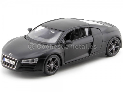 2008 Audi R8 Negro Mate 1:24 Maisto 31281
