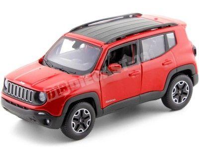 2014 Jeep Renegade Rojo 1:24 Maisto 31282 Cochesdemetal.es