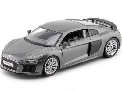 2015 Audi R8 V10 Plus Gris Metalizado 1:24 Maisto 31513 Cochesdemetal.es