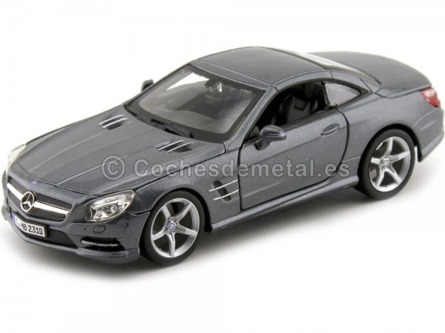 2012 Mercedes-Benz SL500 (R231) Convertible Gris Metalizado 1:24 Bburago 21067 Cochesdemetal.es