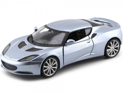 2015 Lotus Evora S IPS Silver Blue 1:24 Bburago 21064 Cochesdemetal.es