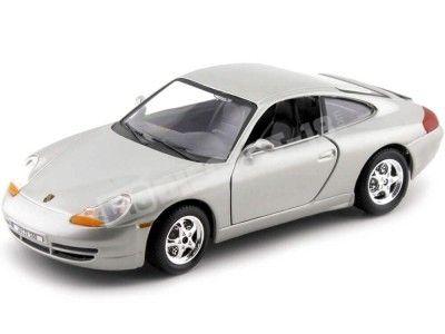 1997 Porsche 911 Carrera 4 Coupe Gris Metalizado 1:24 Bburago 22081 Cochesdemetal.es