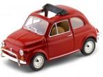 1968 Fiat 500 L Rojo 1:24 Bburago 22099