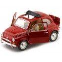 1968 Fiat 500 L Rojo 1:24 Bburago 22099 Cochesdemetal.es