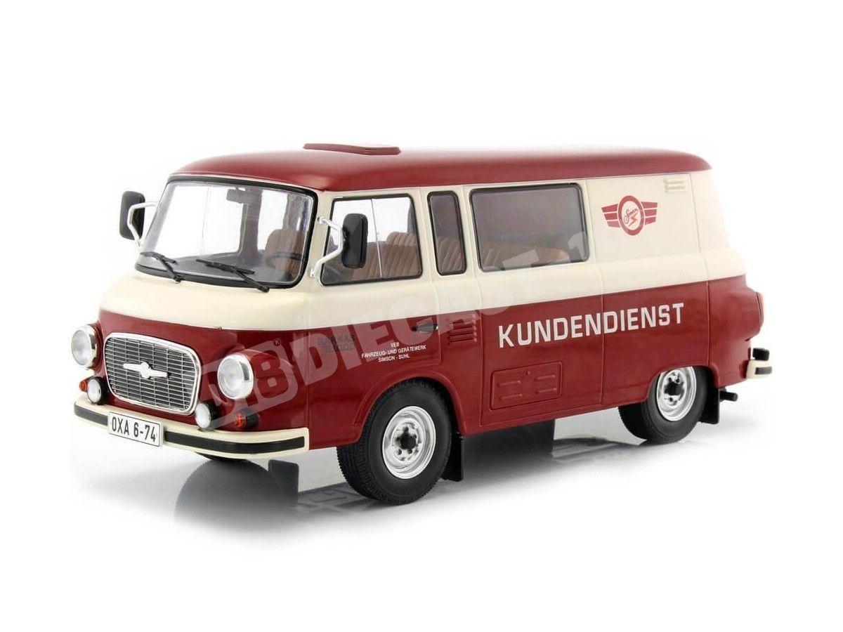"""1970 Barkas B 1000 Mini Bus """"Simson Service"""" 1:18 MC Group 18104 Cochesdemetal.es"""